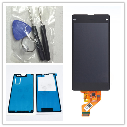 JIEYER Schwarz LCD Display + Touchscreen Digitizer Glass Assembly Für Sony Xperia Z1 Mini Compact D5503 Ersatz,