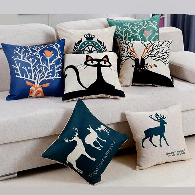 P Flame Katze Stil Mode Neue Kissen Katze Druck Kissen Bett Sofa