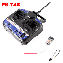 Hotest Sale Original 2.4G FS-T4B 4CH Radio Model RC Plane Transmitter & Receiver Helicopter Airplane Free Shipping