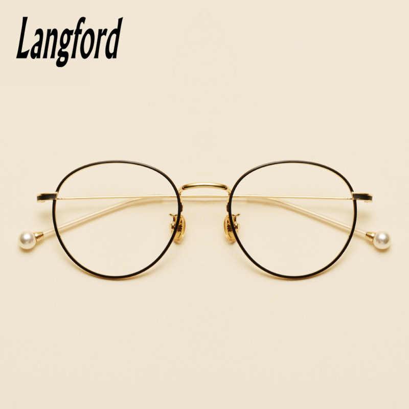 73f9c7de3b langford brand round vintage glasses frame optical glasses frames for women big  gold eyeglass spectacle frames