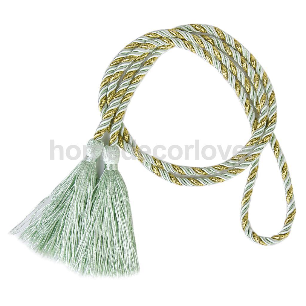 1 Pair Nylon Tassel Rope Cord Window Curtain Fringe