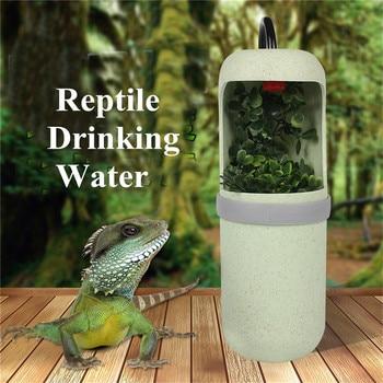 10X20cm Automatic Water Drinking Reptile Drinking Water Fountain Lizard Chameleon Feeding Dispenser Terrarium Amphibian Habitats