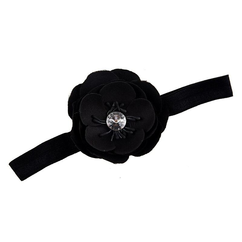 Infant Girl Baby Toddler Flower Headband black