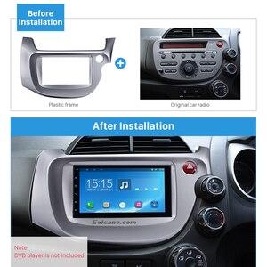 Image 2 - Seicane Zilver 2 Din Autoradio Fascia Voor 2008 2009 2010 2011 2012 2013 Honda Fit Rhd Audio Frame Stereo interface Panel Adapter