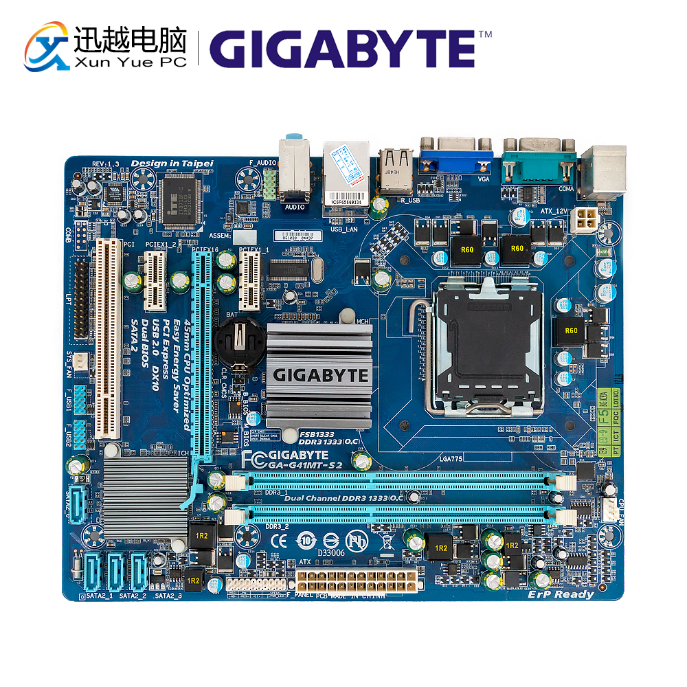 Gigabyte GA-G41MT-S2 Desktop Motherboard G41MT-S2 G41 Socket LGA 775 For Core 2 DDR3 8G Micro-ATX Original Used Mainboard