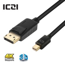 ICZI Thunderbolt Mini DP to DisplayPort Cable 4K @60Hz 1m 1.8m 3m Gold Plated Cable for Macbook Pro Air Projector Camera TV etc
