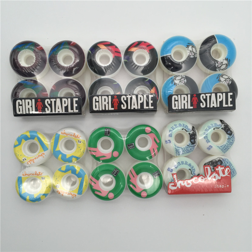 Quality 101A Girl Skateboard Wheels Size 52mm -55mm Hardness101A Brand Skate Wheels For Double Rocker And Professional Skater