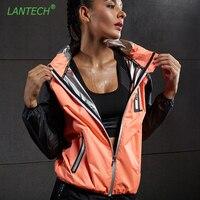 LANTECH Women Heat Hot Sweat Jacket Running Sports Yoga Sportswear Run Fitness Run Exercise Gym Jacket Clothes Long Sleeve Tops