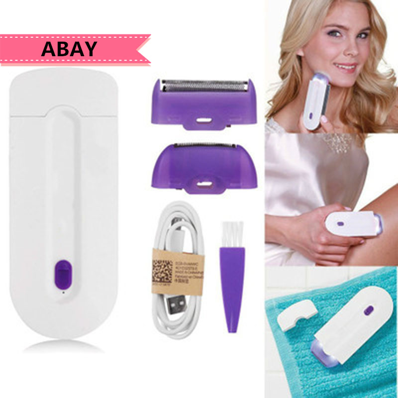 Abay Tool Women Laser Remover Smooth Touch Hair Removal Instant Pain Free Razor Sensor Light Technology Hair Remove