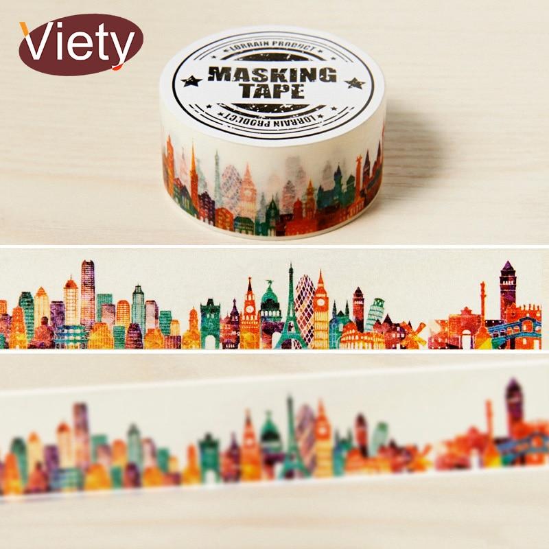 2cm*7m Gorgeous Town Washi Tape DIY Decoration Scrapbooking Planner Masking Tape Adhesive Tape Kawaii Stationery