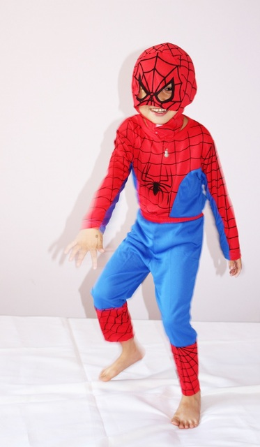 Boy Spiderman Costume 3-4-5-6-7 Kid Halloween Costume & Boy Spiderman Costume 3 4 5 6 7 Kid Halloween Costume Children ...