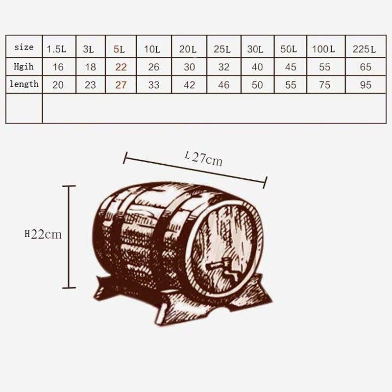 5L ąžuolo statinės kaušas Alus pridedamas baltas vyno baras Namų - Virtuvė, valgomasis ir baras - Nuotrauka 2