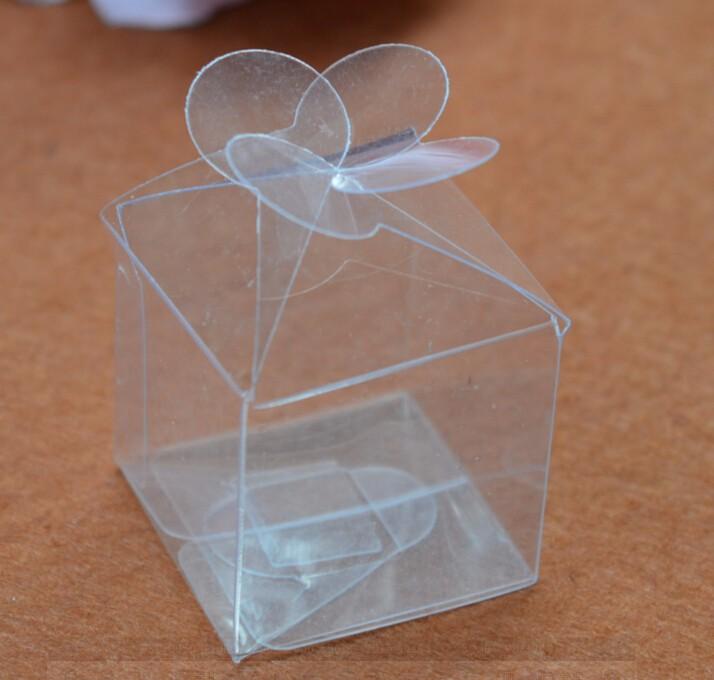 50pcs Mini Plastic Box Transparent Clear Wedding Favor Boxesclear