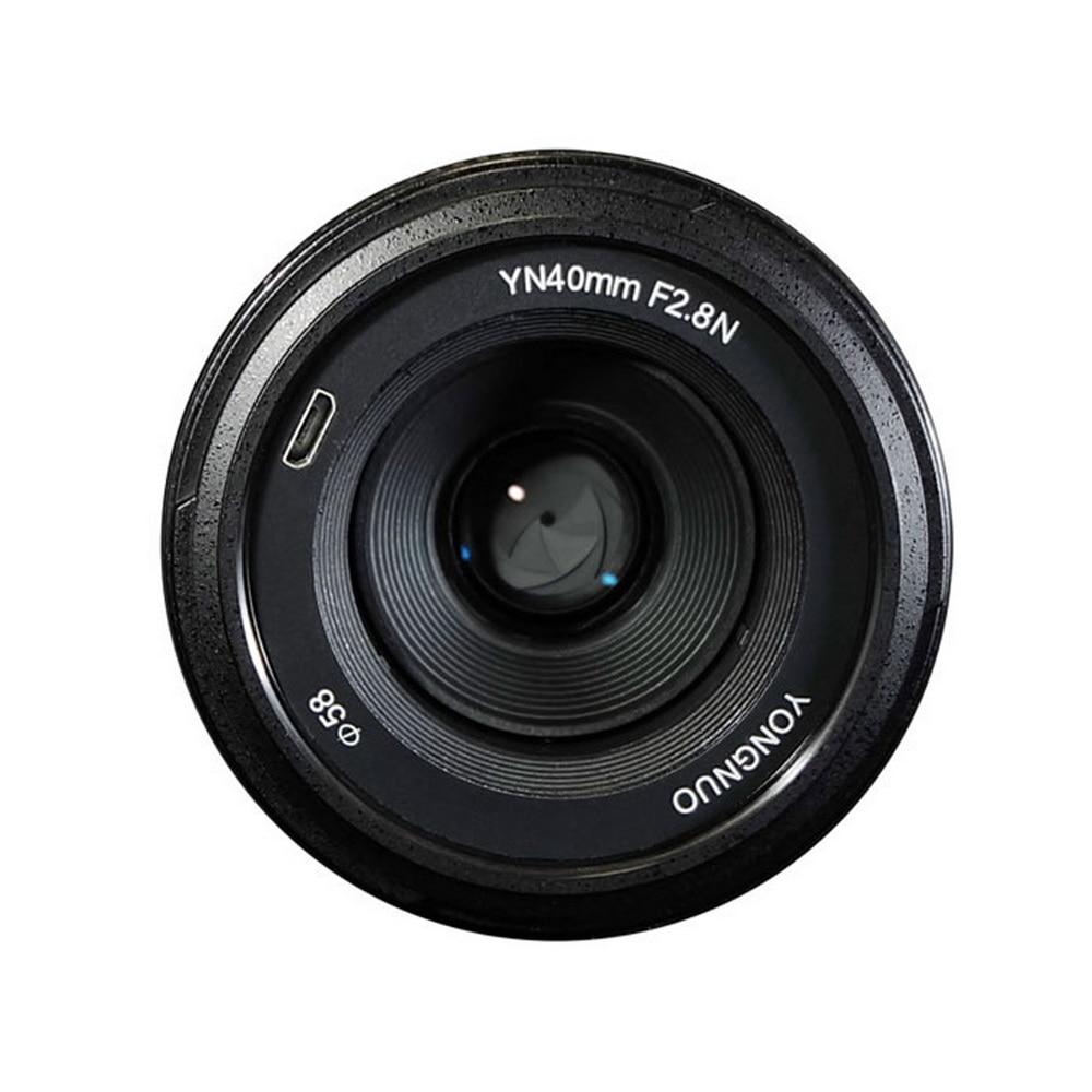 YONGNUO YN 40mm F2.8N AF MF Lens YN40mm Wide Angle Prime Auto Focus Lenses For Nikon DSLR Cameras D7200 D5300 D5200 D750 yongnuo yn35mm af mf fixed focus camera lens f2n f2 0 wide angle f mount for nikon d7200d7100 d300 d5500 d500 dslr free lens bag