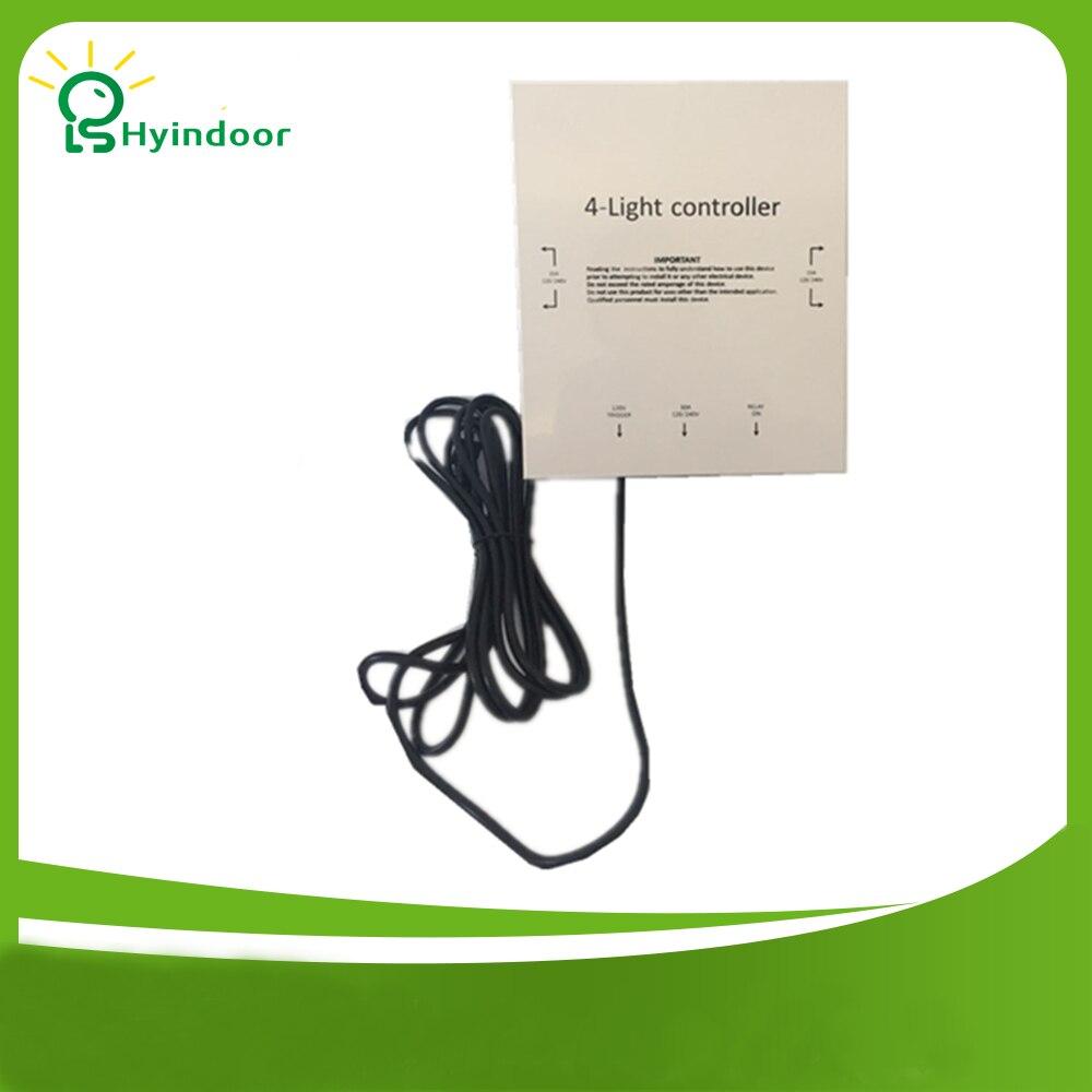 Livraison gratuite 120V USA standard 4 prises lumière HID contrôleur contacteur/qualité industrielle lumière minuterie boîte pour hydroponique