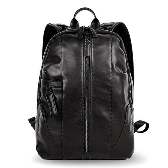 Genuine Leather Solid Backpack For Man Large Backpack Double Zipper Travel Rucksack Classic Unisex Black Bag hiking backpacks Genuine Leather Solid Backpack For Man Large Backpack Double Zipper Travel Rucksack Classic Unisex Black Bag hiking backpacks