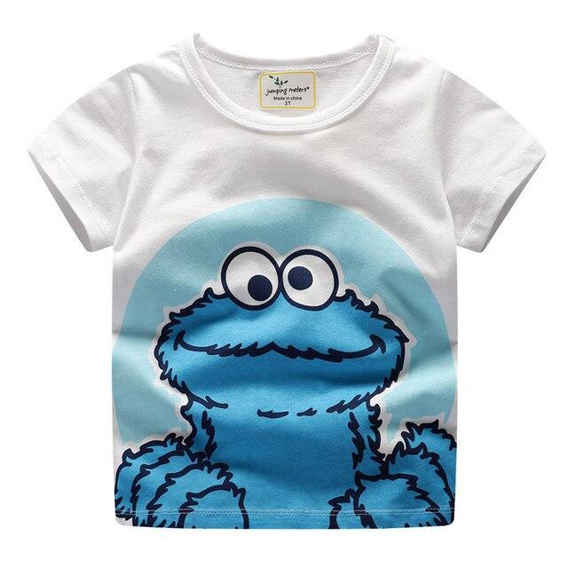 Niños camisetas ropa de bebé 100% algodón de manga corta Impresión de dibujos animados camiseta para niño Camisetas ropa para niños