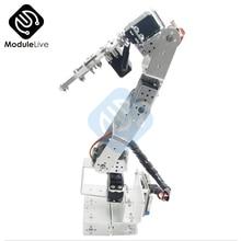 روت 3u 6DOF الألومنيوم روبوت الذراع الميكانيكية الروبوتية المشبك مخلب لاردوينو الفضة