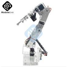 Алюминиевый Роботизированный рычаг ROT3U 6DOF, механический Роботизированный зажим коготь для Arduino, серебристый