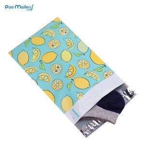 Image 4 - 100pcs 15x23cm 6x9 pollici lemon frutta modello Poli Guarnizione di Auto di Plastica Della Busta Borse