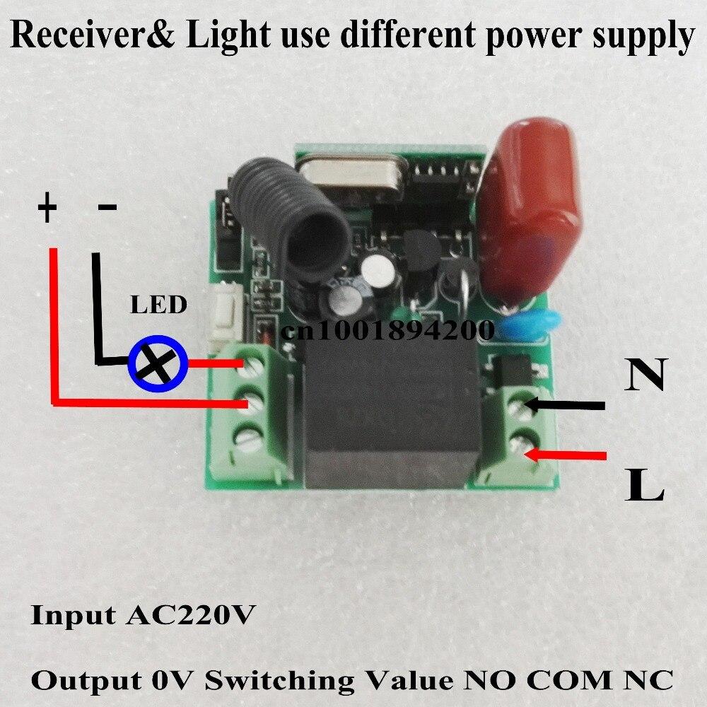 Aliexpresscom  Buy Relay Remote Switch AC V  Channel - Relay com no nc