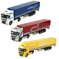 KAIDIWEI 33.7cm Alloy Mantle Type Flat Vehicle Cars Toy Transporter Truck Model Kids Toys Car