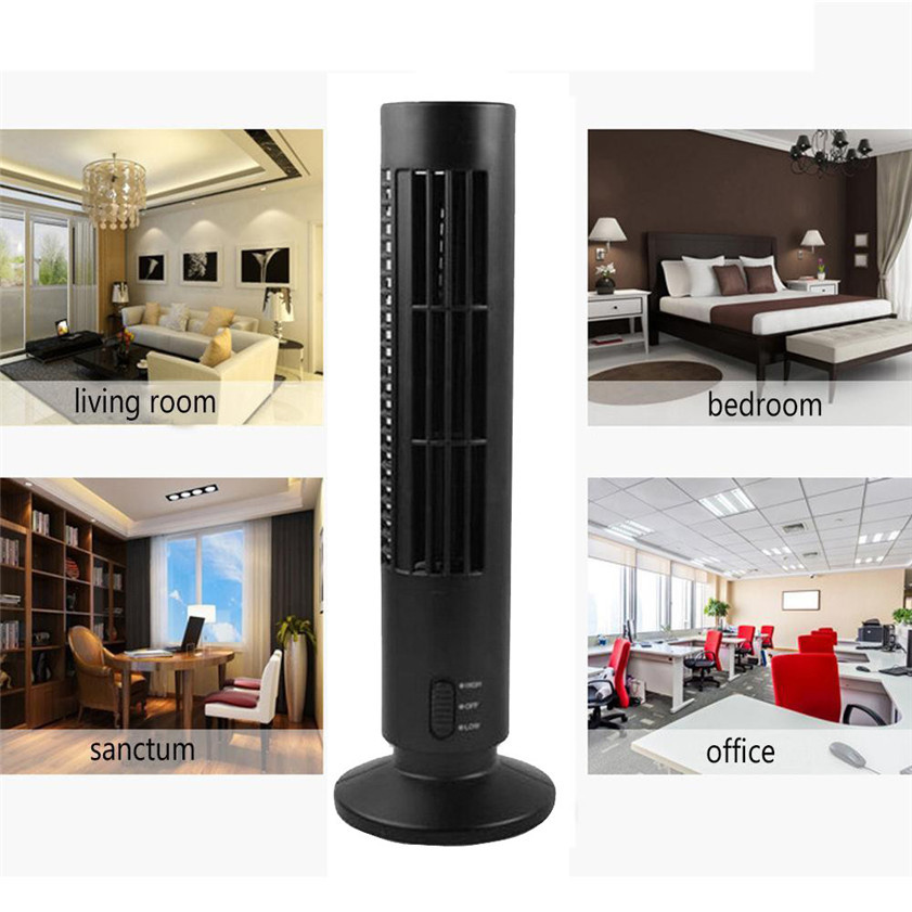 Wholesale droshipping car-styling New Mini Portable USB Cooling Air Conditioner Purifier Tower Bladeless Desk Fan