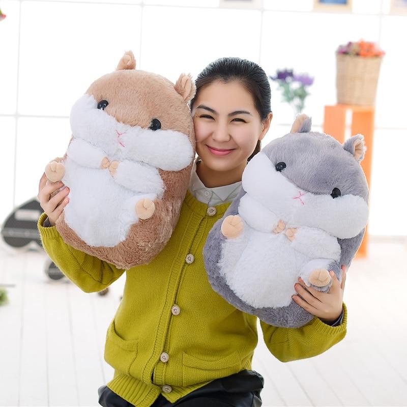 38cm Big Stuffed Kawaii Hamster Doll Toy Cute Plush Hamster For Girl And Baby Stuffed Animals Dropshipping