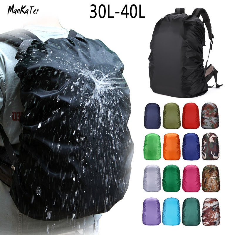 ManKaTer Free Shipping 30L35L40L Camouflage Waterproof Dustproof Sunscreen Lightweight Backpack Rain Cover Raincoat Bag