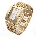G & D Relógio de Pulso Das Mulheres Assistir Relógio De Quartzo Presentes Saat Mulheres Vestido Relógio Feminino Reloj Mujer Relogio feminino Ouro Ocasional geléia Senhora