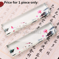 1piece, Chinese Paperweight Class Paper Weight Calligraphy Lotus Penholder