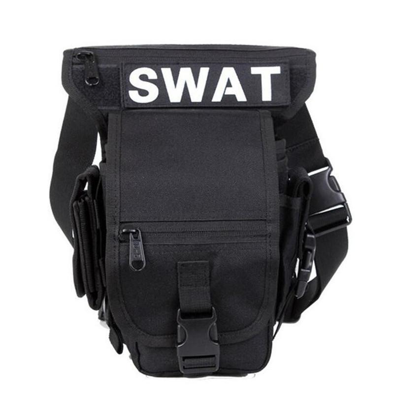 Military high-quality 600 D nylon waterproof D5 columns leg bag Waist pack military men and women travel bag Shoulder bag