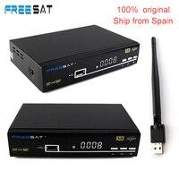 Freesat V8 Siêu 1080 P DVB-S2 Satellite receiver với USB wifi kỹ thuật số top box Tây Ban Nha cung cấp hỗ trợ cclines Máy Chủ ship từ usa-ES