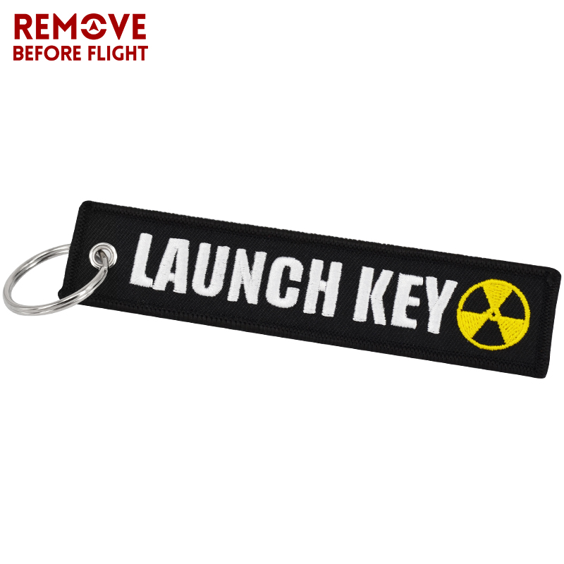 New Fashion Nuclear Launch Key Chain Bijoux Keychain for Motorcycles and Cars Gifts Tag Embroidery Key Fobs OEM Keychain Bijoux (1)