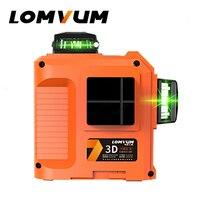 LOMVUM Laser Level 12lines 3D 360 Degree Rotary Laser Line Leveling Green Red Line Precise Adjustment Indooroutdoor Laser Level