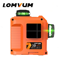 LOMVUM Laser Level 12lines 3D 360 Degree Rotary Laser Line Leveling Green Red Line Precise Adjustment Indooroutdoor Laser Level