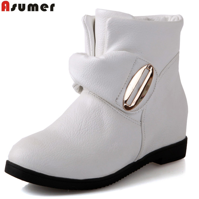 ASUMER 2018 hot sale new arrive women boots fashion solid color ladies boots simple comfortable autumn winter ankle boots mulinsen new arrive 2017 autumn winter men