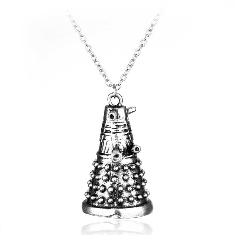HANCHANG Science TV Dr Who collier Dr étrange Dalek Robot pendentif collier pour femmes hommes bijoux cadeau accessoires