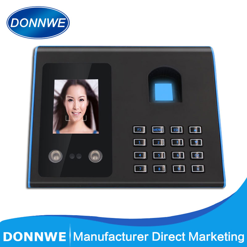 D FA01 Biometric Face Facial Fingerprint Time Attendance System Device English Version Face Recognition Check-in Machine