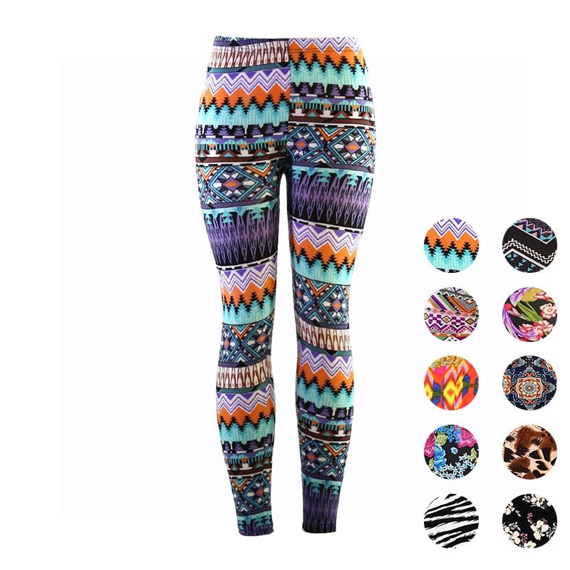 Yesello Digital prints   Leggings   For Women Casual Elasticity Skinny Printed Stretchy Pants   Leggings   Trouser legins calzas mujer