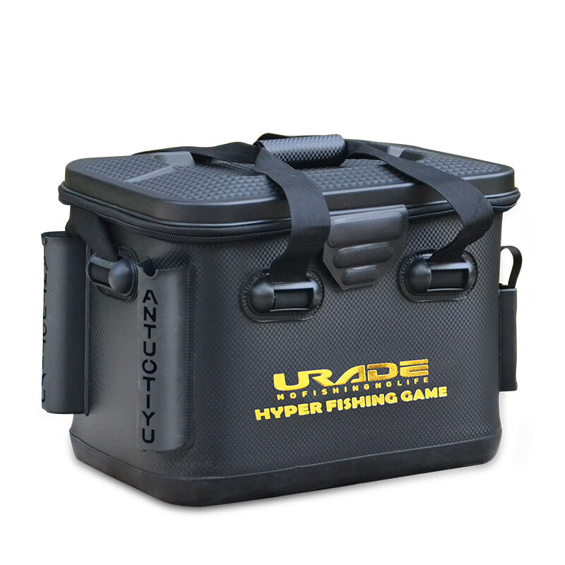 Boîte de pêche épaissie EVA rangement étanche avec porte-canne organisateur de grande capacité et sac de transport disponible