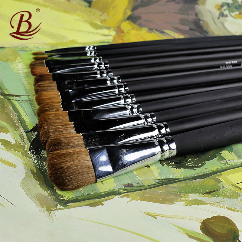 6Pcs/Set Fine Weasel Hair Paint Brush Round Shaped Oil Artistic Brushes For Acrylic Watercolor Painting Art Supplies Tassels