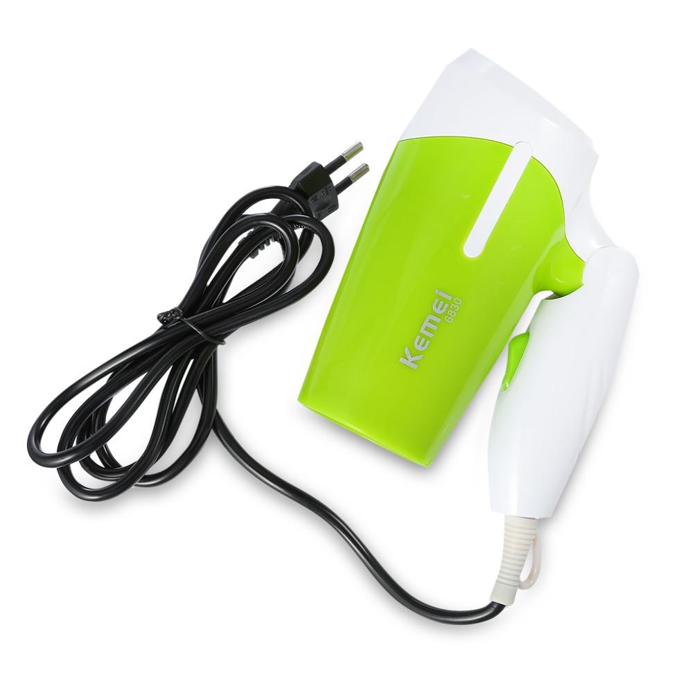 Kemei KM - 6830 Electric Mini Folding Compact Travel Hair Blow Dryer
