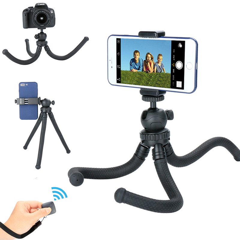 Ulanzi Flexible Octopus font b Smartphone b font Travel Tripod Stand with Ball Head Selfie Monopod