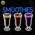 Smoothies 3 Logo NEON LICHT ZEICHEN Tassen Neon Zeichen Schmücken Wand Hotel BIER PUB Pub Lebensmittel Zeichen Display Handwerk Ikonische zeichen licht-in Neonröhren & Röhren aus Licht & Beleuchtung bei