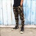 A presión pantalones pantalones de pierna haz hombres camuflaje bape bape bape pantalones hip hop pantalones de chándal corredores de carga suelta chándal informal pantalones