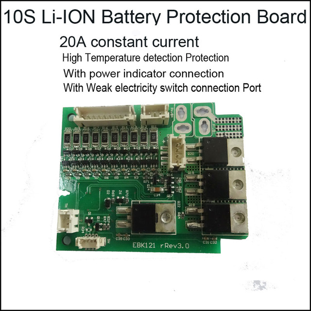 high level 10s lithium ion battery protection circuit board pcb for