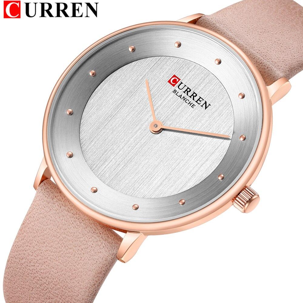 Fashion Simple Ladies Watches Design Comfortable Leather Quartz Womens Wrist Watch Curren Brand New Female Watch Bayan Kol Saati Women S Watches Aliexpress