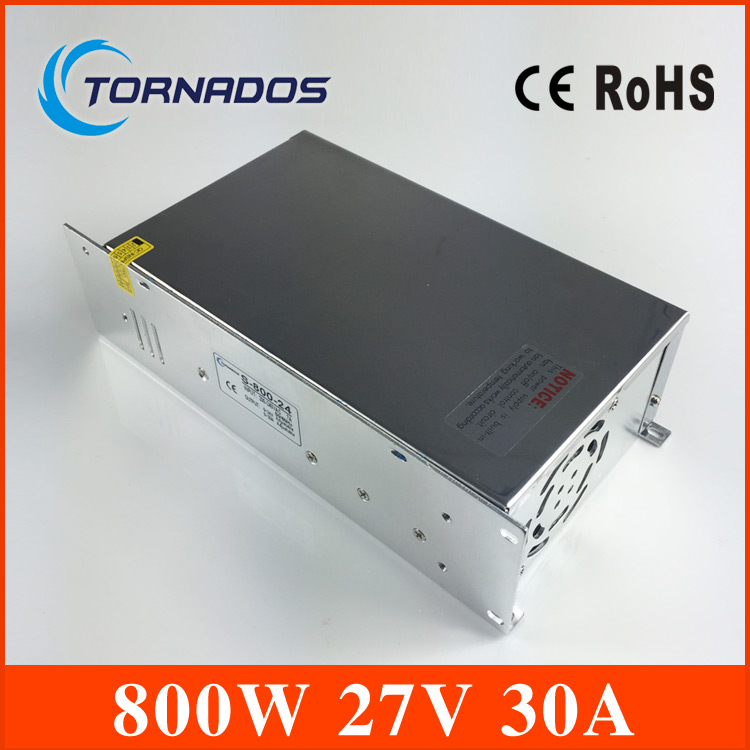 S-800-27 800W 27V 30A power supply 220V or 110V INPUT Single Output Switching power supply for LED Strip light AC to DC