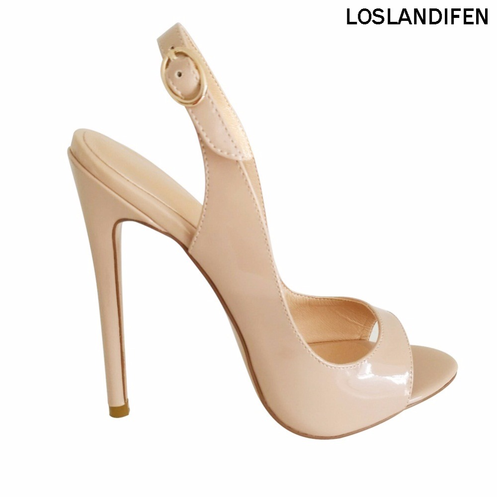 Women 39 s Fashion Bissima 120mm Open Toe SlingBack High Heel Sandals Party Shoes WBB010 in High Heels from Shoes